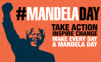 #MandelaDay poster with hashtags