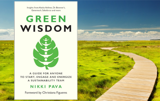 Book Cover for Green Wisdom on trail through grasses