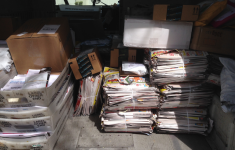 Mail truck full of junk mail