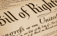 Close up cut off version of Bill of Rights