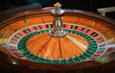 wooden casino roulette wheel