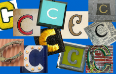 several versions of the letter C