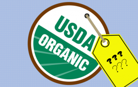ORGANIC seal with question marks